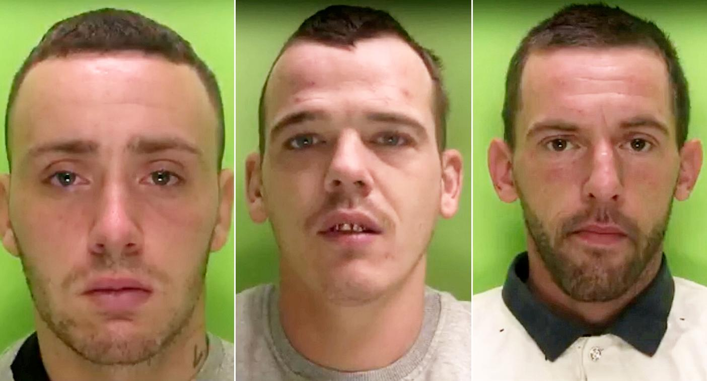 Liam Campbell, Steven Ward and Nathaniel Smith carried out three robberies (Picture: SWNS)