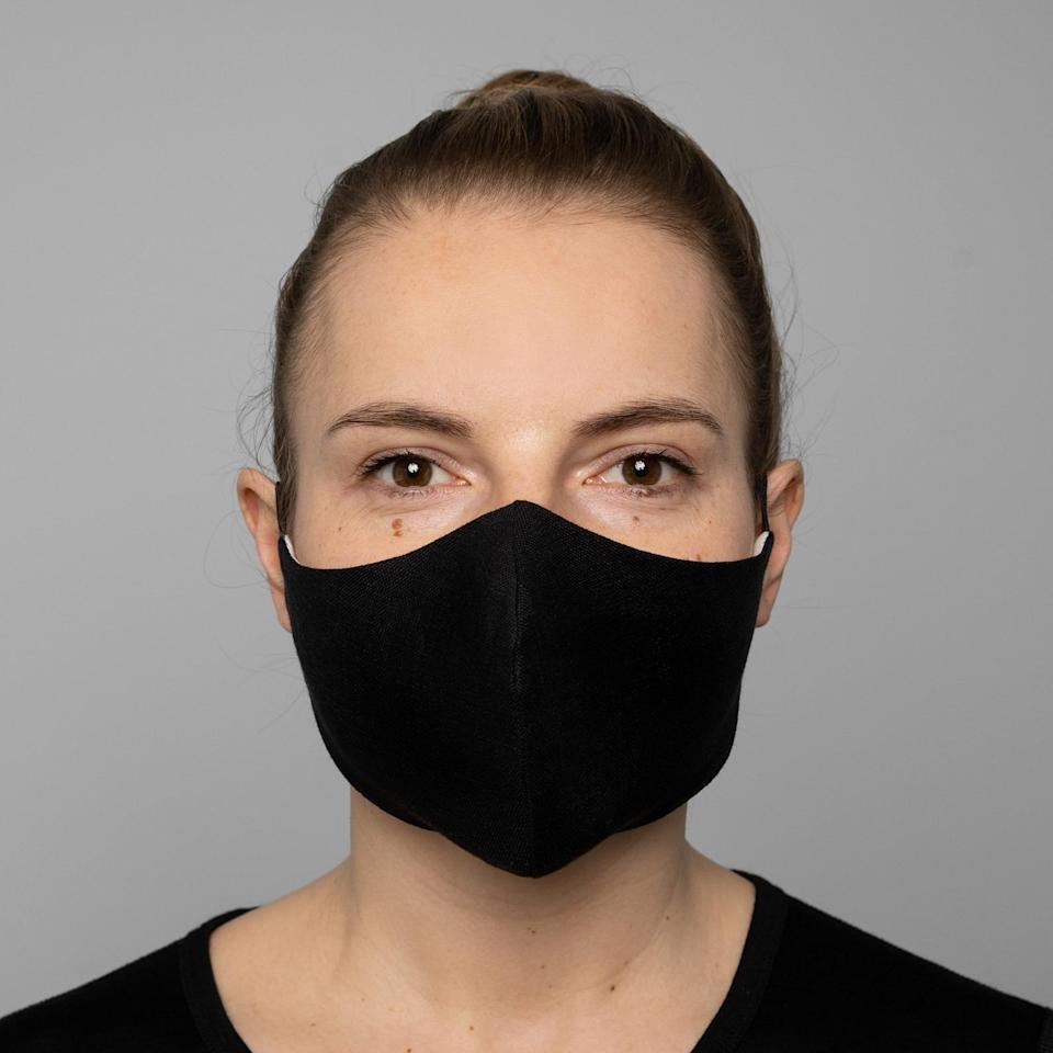 <p>This <span>Black Protective Reusable Face Mask</span> ($16, originally $20) is a good call.</p>