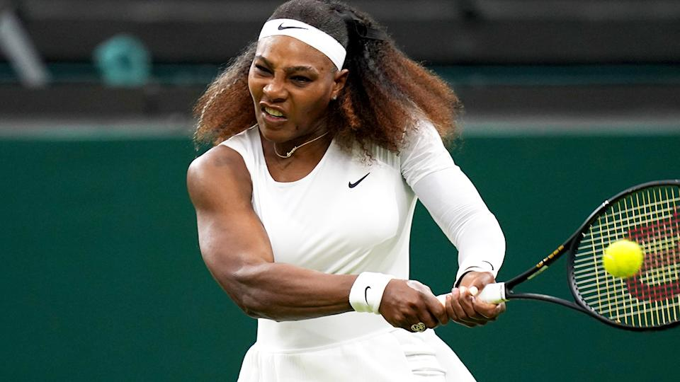 Serena Williams, pictured here in action at Wimbledon.