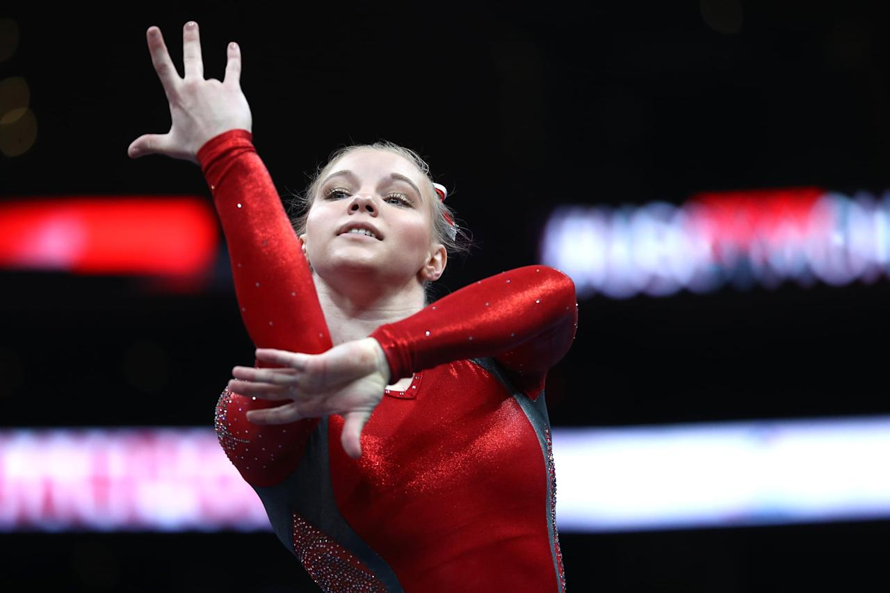 "<p>Jade received a silver medal on floor and vault at the 2017 World Gymnastics Championships, and she got the same results in August at the 2019 US Gymnastics Championships. In fact, the 19-year-old from Phoenix, AZ, who's a future Ohio State Buckeyes gymnast, is known as a specialist in those two events. She passed up on the opportunity to contend for a spot on the Worlds team in 2018. Instead, she competed in the apparatus World Cup series, an <a href=""http://olympics.nbcsports.com/2018/10/03/jade-carey-gymnastics/"" target=""_blank"" class=""ga-track"" data-ga-category=""Related"" data-ga-label=""http://olympics.nbcsports.com/2018/10/03/jade-carey-gymnastics/"" data-ga-action=""In-Line Links"">eight-competition</a> series that started that year. FIG rules prohibited her from doing both.</p> <p>Since, for this upcoming Olympic Games only, each country has four, not five, gymnasts competing in the team event, two additional gymnasts can qualify individually as event specialists. This is what the apparatus World Cup series could do for Jade - she'll <a href=""http://www.usatoday.com/story/sports/olympics/2019/08/10/gymnastics-olympic-hopeful-jade-carey-charts-unique-path-tokyo/1973471001/"" target=""_blank"" class=""ga-track"" data-ga-category=""Related"" data-ga-label=""http://www.usatoday.com/story/sports/olympics/2019/08/10/gymnastics-olympic-hopeful-jade-carey-charts-unique-path-tokyo/1973471001/"" data-ga-action=""In-Line Links"">reportedly know if she's able to clinch a ticket to Tokyo</a> as early as February.</p> <p><strong>Jade's USA Gymnastics highlight page:</strong> <a href=""http://usagym.org/pages/athletes/athleteListDetail.html?id=239522"" target=""_blank"" class=""ga-track"" data-ga-category=""Related"" data-ga-label=""http://usagym.org/pages/athletes/athleteListDetail.html?id=239522"" data-ga-action=""In-Line Links"">view more of her accomplishments</a></p> <p><strong>Jade's Instagram:</strong> <a href=""https://www.instagram.com/jadecareyy/?hl=en"" target=""_blank"" class=""ga-track"" data-ga-category=""Related"" data-ga-label=""https://www.instagram.com/jadecareyy/?hl=en"" data-ga-action=""In-Line Links"">@jadecareyy</a></p>"