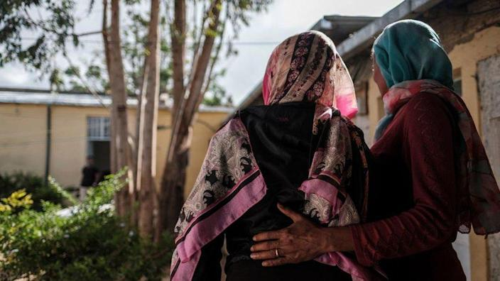 Women at rape center - one says she was raped by Eritrean soldiers