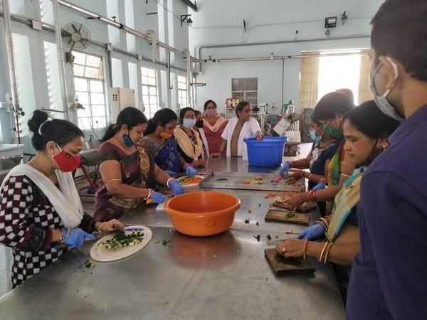 In the Aahaar program, standardised hot cooked meals are being provided at an affordable price.