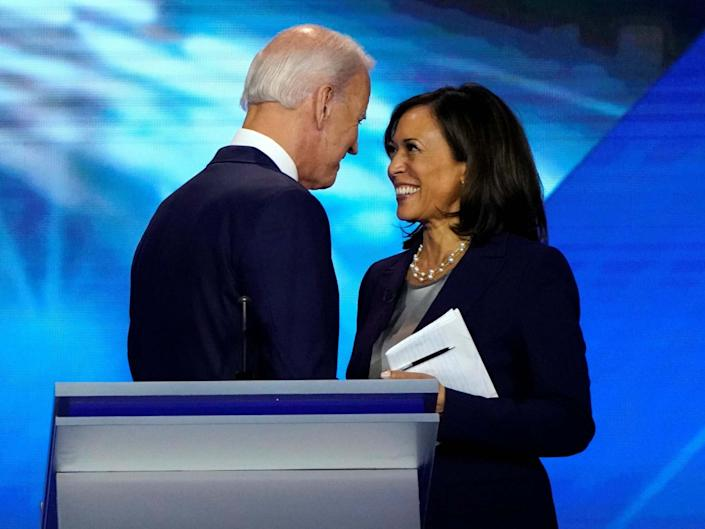 Senator Kamala Harris ran for the Democratic nomination against Biden before dropping out in December: Reuters