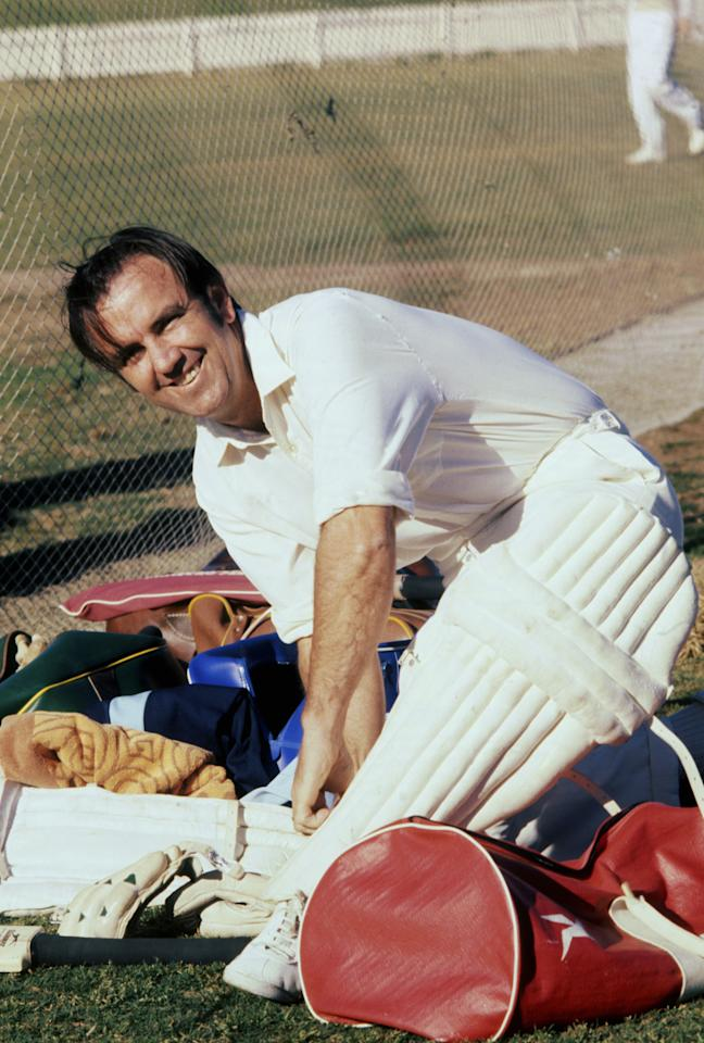 AUSTRALIA - UNDATED:  Bobby Simpson of Australia looks on as he prepares to bat during an undated picture taken during a practice session in Australia. (Photo by Getty Images)