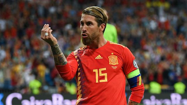 Spain coach Robert Moreno says captain Sergio Ramos still has the hunger to win titles after breaking La Roja's appearance record.