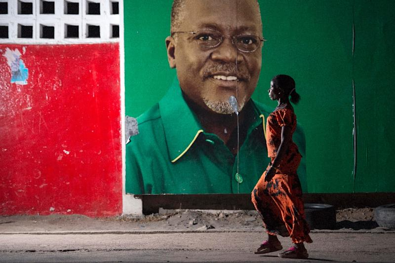 Magufuli -- pictured on a campaign billboard for the 2015 president elections -- has been accusing of seeking to muzzle dissent (AFP Photo/Daniel Hayduk)
