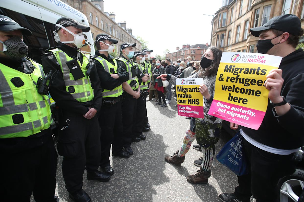Glasgow protesters