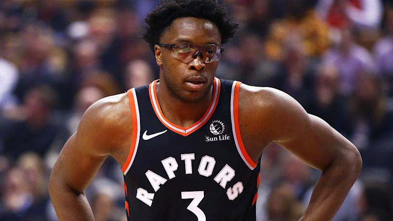OG Anunoby's fantasy value has been dropping, due to the improved play of teammate Rondae Hollis-Jefferson. (Photo by Vaughn Ridley/Getty Images)