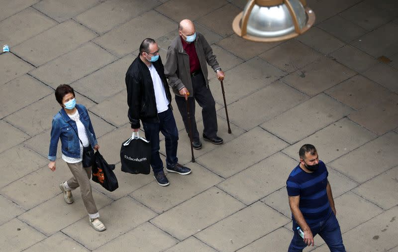 England's shoppers ordered to wear face coverings