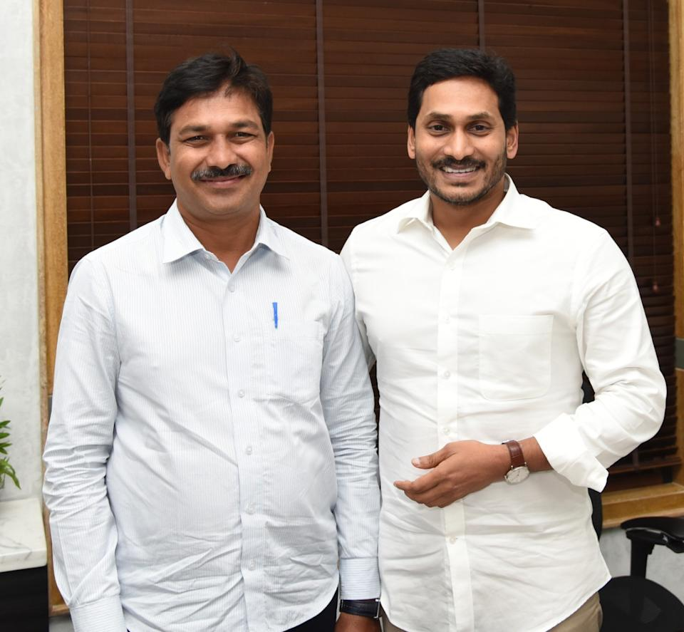 Srinivas Padakandla with Andhra Pradesh Chief Minister Shri Jagan Mohan Reddy