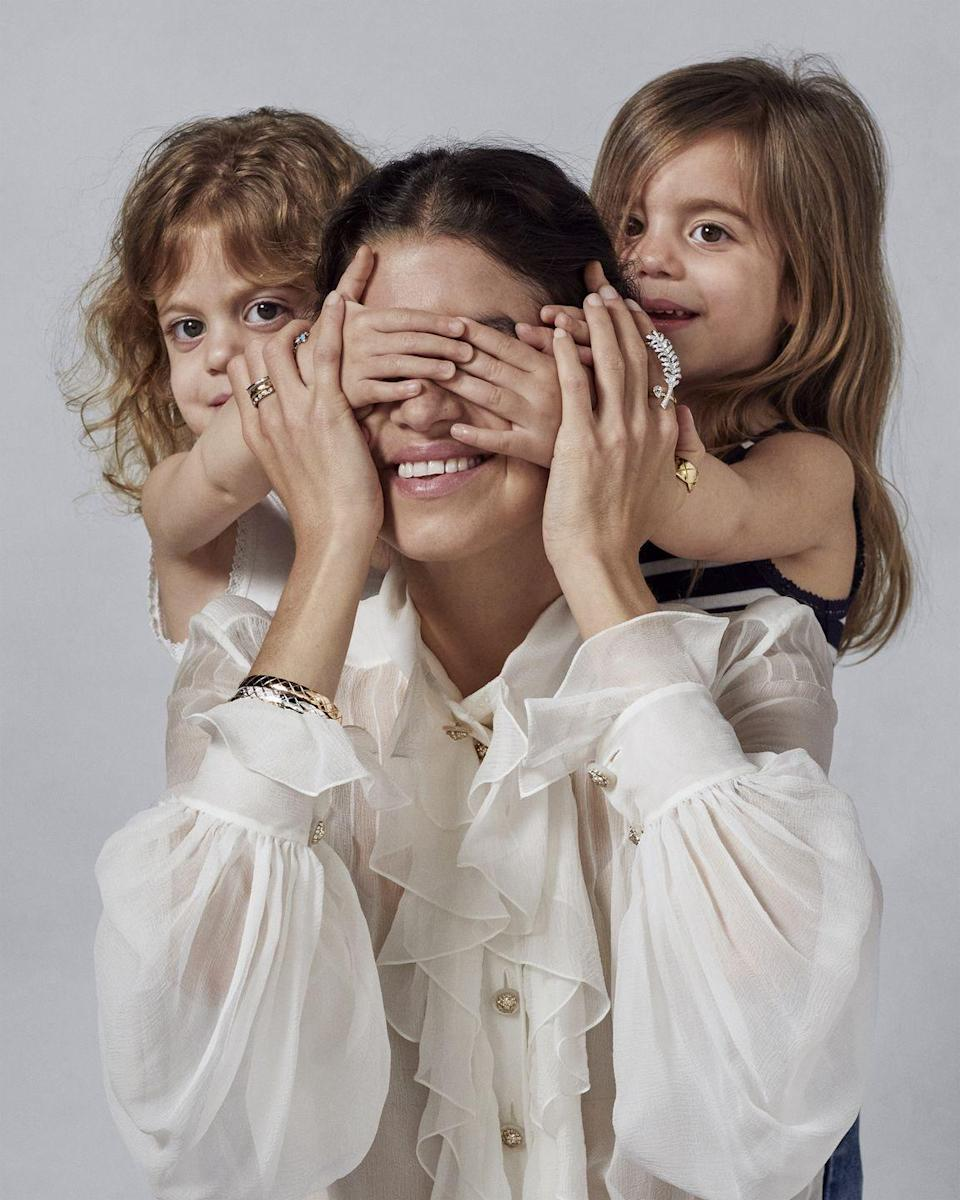 <p><strong>Has how you think about, buy or collect jewelry changed since becoming a mother?</strong></p><p><em>I've always believed that jewelry maintained a very powerful ability to encapsulate the story you want to tell about your life or your love or anything, really, as a sort of talisman that you can pass down. Now that is further reinforced. It doesn't even matter what kind of jewelry it is, because you're the one who gives it its sentimental value. </em></p><p><strong>What is one surprising aspect of becoming a mother that you never could have expected?</strong></p><p><em>Honestly? I think it's learning that I really like elementary science.</em><br></p>