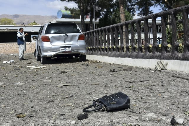 The aftermath of a Taliban attack (STR/AP)