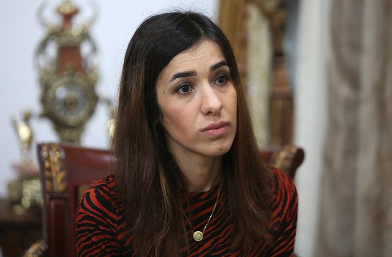 Nobel Peace Prize winner Nadia Murad who was held by Islamic State fighters in Iraq for three months is to address the UN Security Council on Tuesday (AFP Photo/SABAH ARAR)