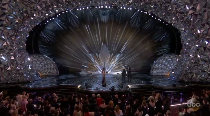 Cinematographer Roger Deakins receives a standing ovation. (Photo: ABC)