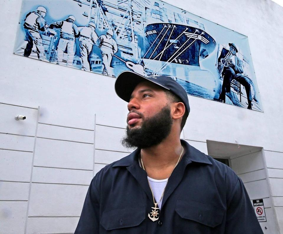 Longshoreman Alex Yanes stands outside the International Longshoremen's Association Local 1416 in Overtown on June 15, 2020. His last day of work at PortMiami was April 18.