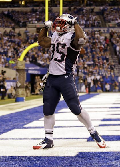 Jonas Gray, flex of distinction (AP Photo/AJ Mast)