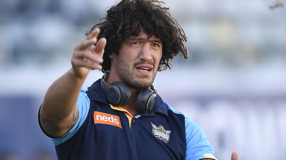 Kevin Proctor and the Gold Coast Titans will learn more about their COVID-19 impacted fixture in the coming days. (Photo by Ian Hitchcock/Getty Images)