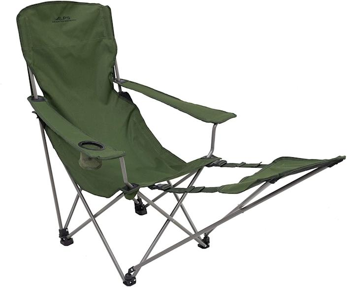 """<h2>ALPS Mountaineering Escape Camp Chair</h2><br>Create a tranquil oasis, even from your dirt-laden campsite. After all the hard work you've done throwing together your tent and crafting the world's best s'more, you deserve to sit back, relax, and put your feet up on this chair's footrest.<br><br><em>Shop </em><strong><em><a href=""""https://www.amazon.com/stores/ALPS+Mountaineering/page/1020C944-FAF3-4CD8-8808-4C721346698E?ref_=ast_bln"""" rel=""""nofollow noopener"""" target=""""_blank"""" data-ylk=""""slk:ALPS Mountaineering"""" class=""""link rapid-noclick-resp"""">ALPS Mountaineering</a></em></strong><br><br><strong>ALPS Mountaineering</strong> Escape Camp Chair, $, available at <a href=""""https://www.amazon.com/dp/B004EQEB2E?th=1"""" rel=""""nofollow noopener"""" target=""""_blank"""" data-ylk=""""slk:Amazon"""" class=""""link rapid-noclick-resp"""">Amazon</a>"""