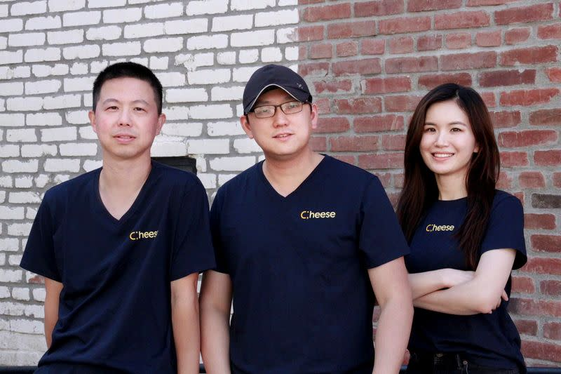 The Cheese Financial co-founders pose for a picture