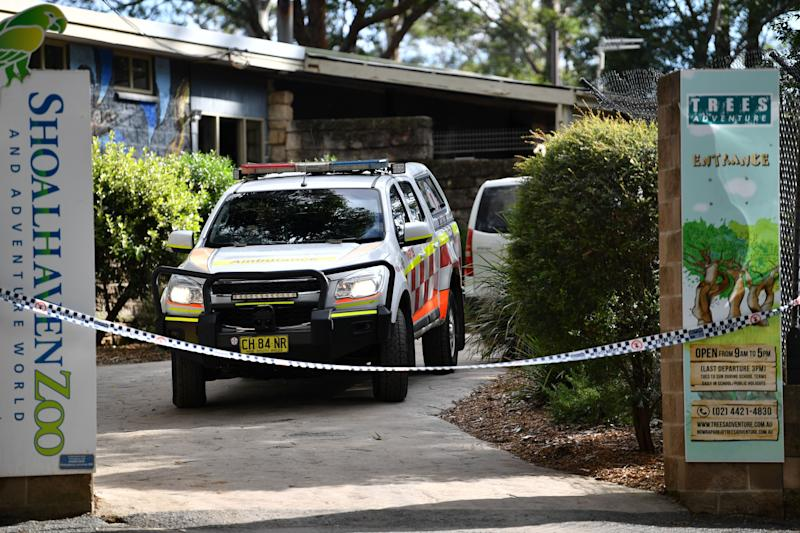 An ambulance is seen leaving the Shoalhaven Zoo, where a worker was wounded in a lion attack, in Nowra, Australia, May, 29, 2020.  (Photo: REUTERS)