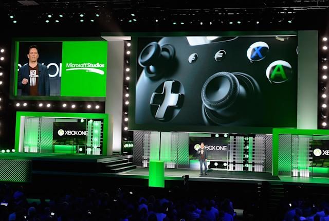 LOS ANGELES, CA - JUNE 10: Phil Spencer, vice president of Microsoft Game Studios at Microsoft Corp. speaks during Microsoft Xbox news conference at the Electronic Entertainment Expo at the Galen Center on June 10, 2013 in Los Angeles, California. Thousands are expected to attend the annual three-day convention to see the latest games and announcements from the gaming industry. (Photo by Kevork Djansezian/Getty Images)