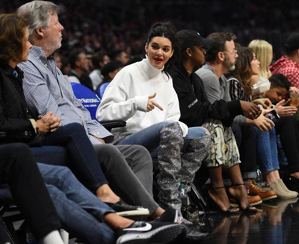 The model just demonstrated how to rock sports-luxe in one sartorial swoop [Photo: Getty]