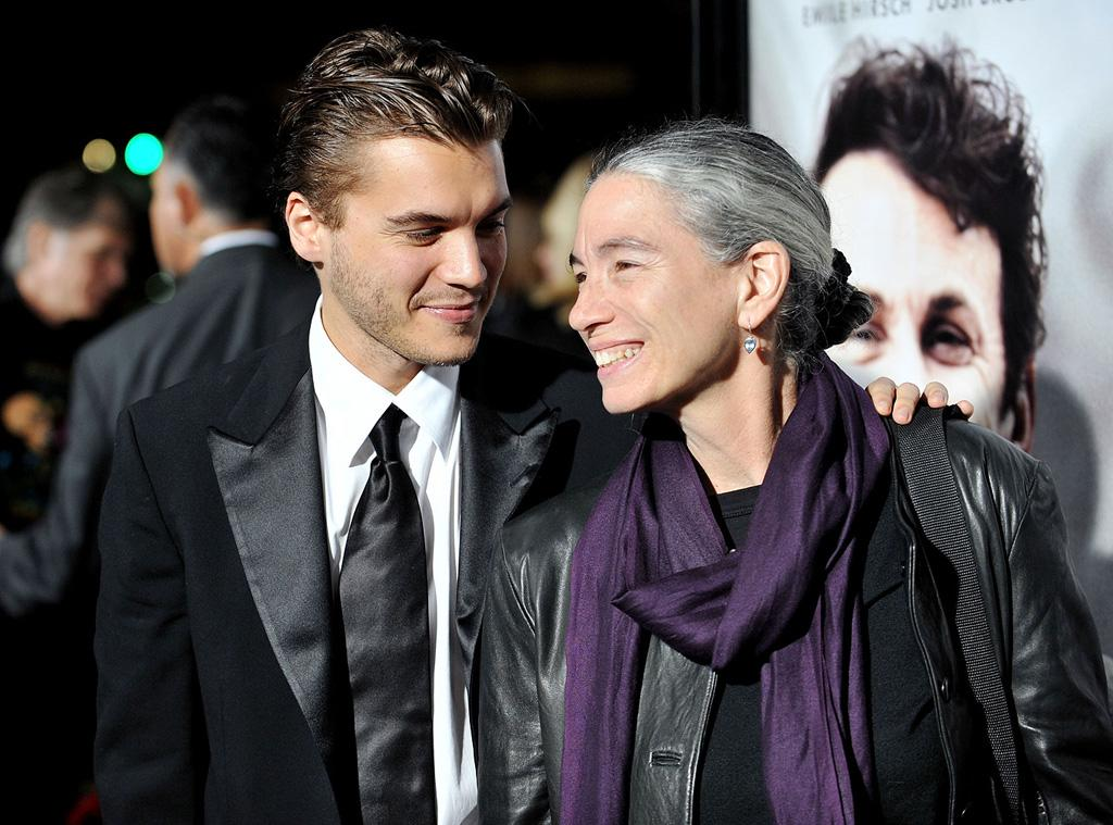 """<a href=""""http://movies.yahoo.com/movie/contributor/1804492088"""">Emile Hirsch</a> and mom Margaret Davenport at the Los Angeles premiere of <a href=""""http://movies.yahoo.com/movie/1810041985/info"""">Milk</a> - 11/13/2008"""
