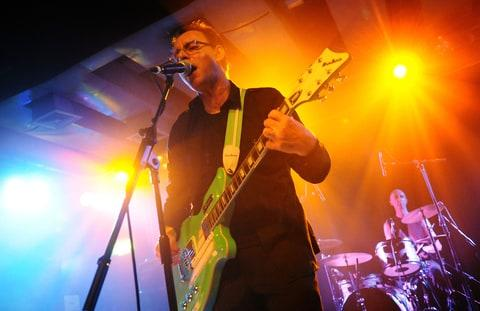 Colin Newman of British post punk group 'Wire' performs live on stage during the first night of their European tour, at the Scala in King's Cross on February 2, 2011 in London, England.