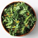 """Citrusy kumquats and a Granny Smith apple vinaigrette give this minimalist salad big-time flavor. <a href=""""https://www.epicurious.com/recipes/food/views/hearty-greens-with-kumquats-51123620?mbid=synd_yahoo_rss"""" rel=""""nofollow noopener"""" target=""""_blank"""" data-ylk=""""slk:See recipe."""" class=""""link rapid-noclick-resp"""">See recipe.</a>"""