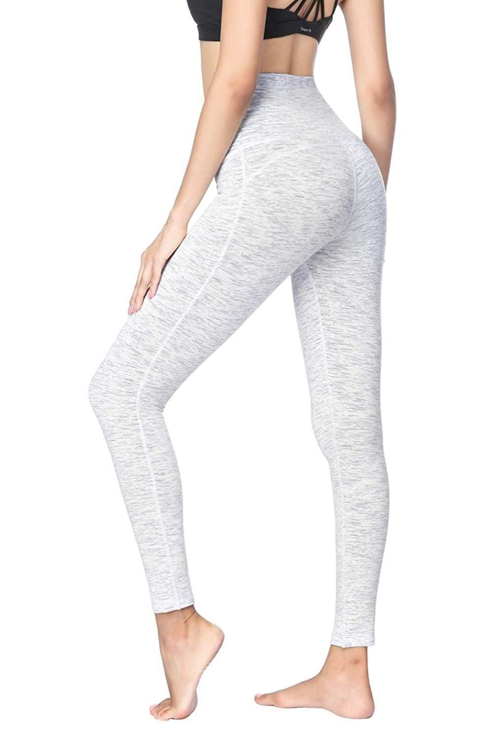 """<p>With four-way stretch and a thick, opaque fabric, many customers prefer these <a href=""""https://www.popsugar.com/buy/Dragon-Fit-Compression-Yoga-Pants-365705?p_name=Dragon%20Fit%20Compression%20Yoga%20Pants&retailer=amazon.com&pid=365705&price=21&evar1=fit%3Aus&evar9=45278643&evar98=https%3A%2F%2Fwww.popsugar.com%2Ffitness%2Fphoto-gallery%2F45278643%2Fimage%2F45278653%2FDragon-Fit-Compression-Yoga-Pants&list1=shopping%2Camazon%2Cworkout%20clothes%2Cleggings%2Cfitness%20gear&prop13=mobile&pdata=1"""" class=""""link rapid-noclick-resp"""" rel=""""nofollow noopener"""" target=""""_blank"""" data-ylk=""""slk:Dragon Fit Compression Yoga Pants"""">Dragon Fit Compression Yoga Pants</a> ($21) to much higher-priced designer alternatives.</p>"""