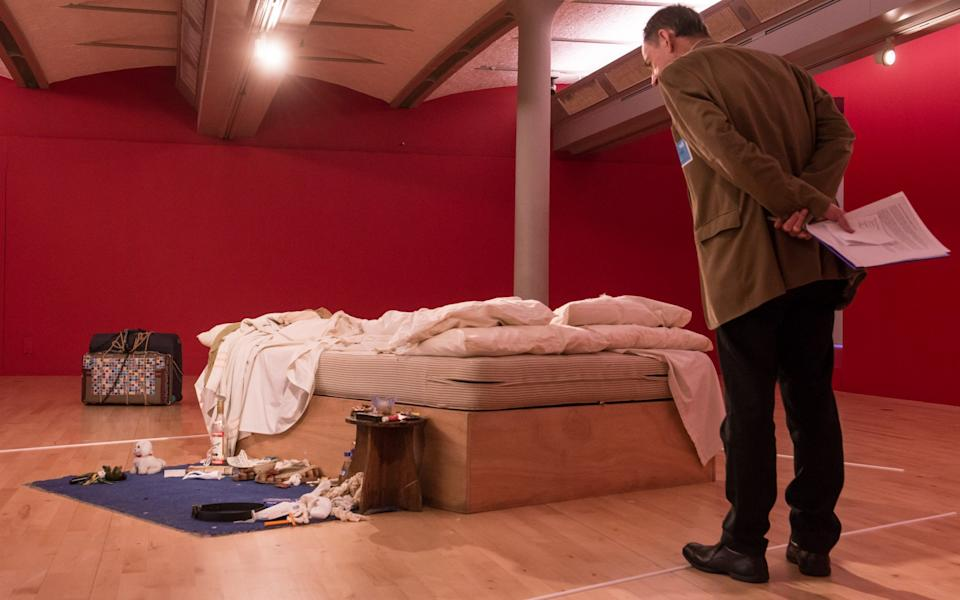 Emin's My Bed, on display in Liverpool in 2016 - GETTY IMAGES