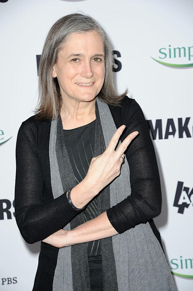 "Amy Goodman arrives at ""MAKERS: Women Who Make America"" New York Premiere at Alice Tully Hall on February 6, 2013 in New York City."
