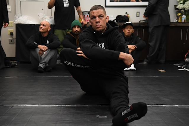 Nate Diaz is considering legal action after the Miami Herald published and then retracted a false story about Diaz being arrested for domestic violence. (Photo by Mike Roach/Zuffa LLC via Getty Images)