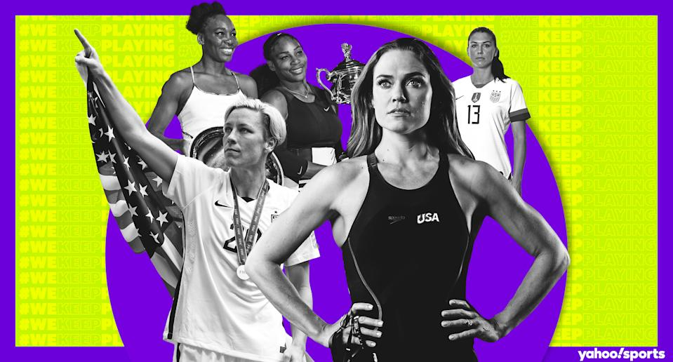 Many of the fiercest competitors in women's sports are finding success beyond the playing field. (Amber Matsumoto/Yahoo Sports_