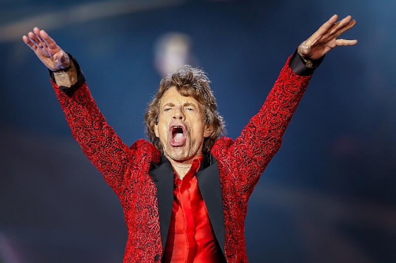 "Time is no longer on the side of rock's legends such as Mick Jagger, pictured in 2015, who is ""on the mend"" following a heart valve procedure (AFP Photo/Michael Hickey)"