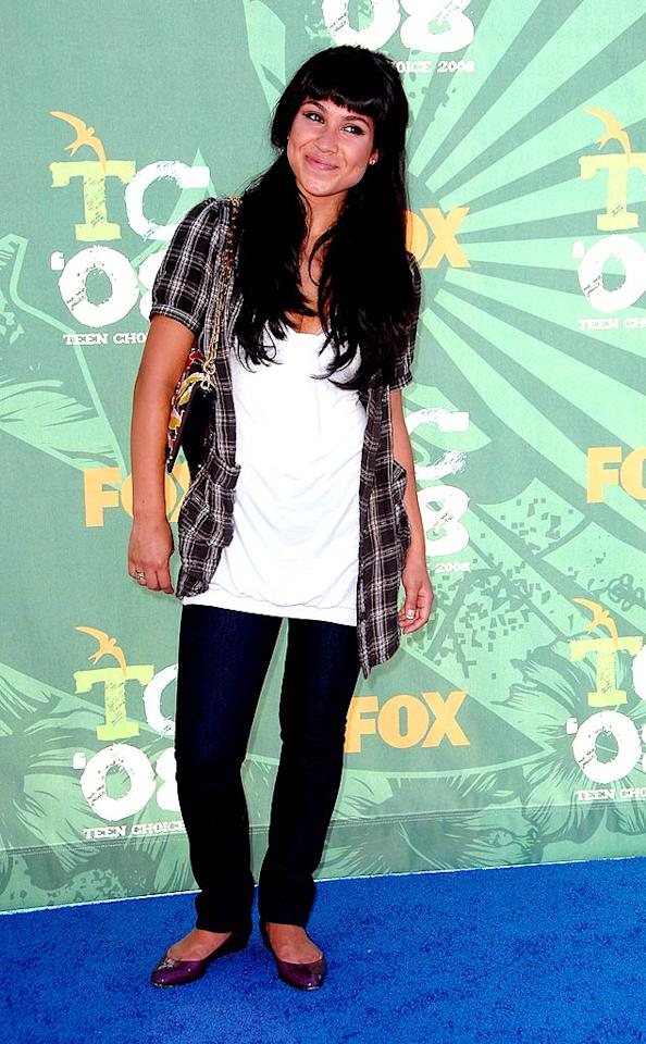 "Speaking of fashion faux pas, Cassie Steele (""Degrassi: The Next Generation"") flopped in flannel. Steve Granitz/<a href=""http://www.wireimage.com"" target=""new"">WireImage.com</a> - August 3, 2008"