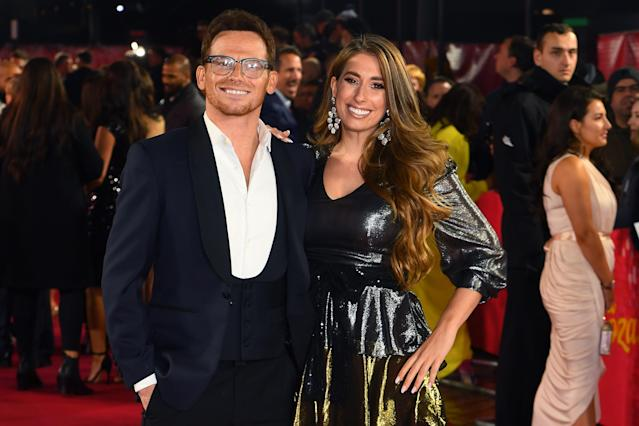 Joe Swash and Stacey Solomon attends the ITV Palooza 2019 at The Royal Festival Hall on November 12, 2019 in London, England. (Photo by Dave J Hogan/Getty Images)