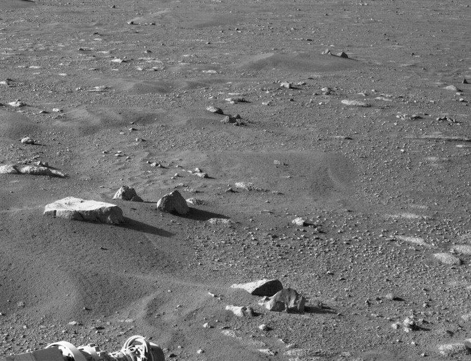 Mars surface captured by onboard Right Navigation Camera (Navcam), 1 March 2021