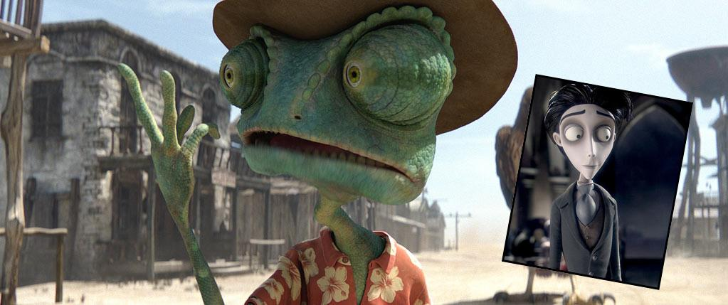 "<a href=""http://movies.yahoo.com/movie/1810079248/info"">Rango</a> (2011): With an honorary mention for <a href=""http://movies.yahoo.com/movie/1808625206/info"">Tim Burton's Corpse Bride</a> (2005). These animated films reveal Depp's ability to provide a rich characterization, even when you can't see him. In ""Rango,"" he lends his voice as a quick-talking lizard with a flair for the theatrical. Dumped in the tiny desert town of Dirt, this domesticated pet reinvents himself as Rango, and he's one tough hombre. Depp is wonderfully goofy here; he sounds playful and free. In the gorgeous and strange ""Corpse Bride,"" a wonder of stop-motion animation and digital technology, Depp dials it down to play a young man who's shy, skittish and subdued, but just as fully fleshed out as any human being he's portrayed throughout his varied career."