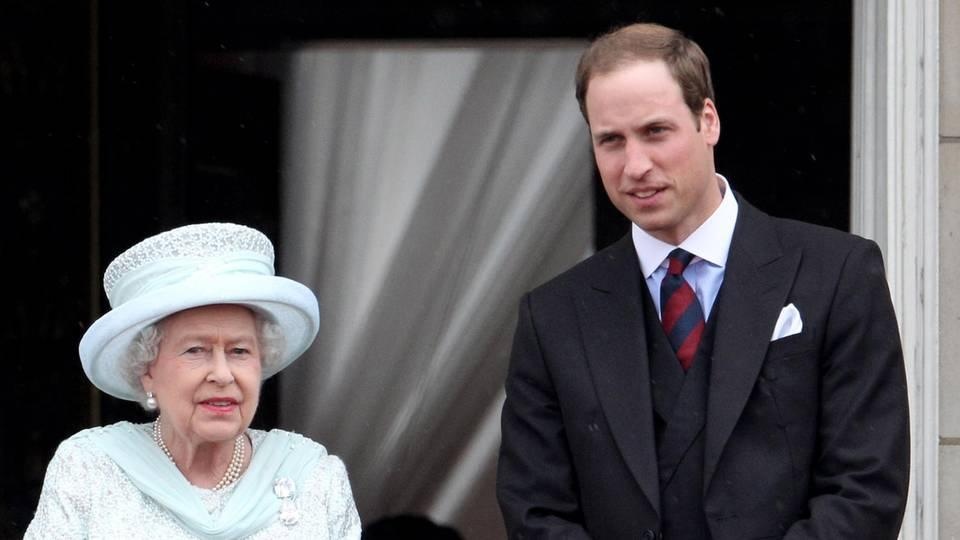 Queen Elizabeth und Prinz William