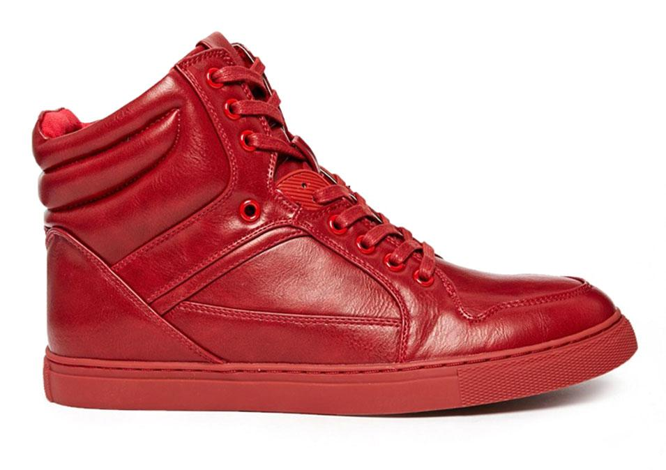 """<p>ASOS High Top Trainers, $63, <a rel=""""nofollow"""" href=""""http://www.asos.com/ASOS/ASOS-High-Top-Trainers/Prod/pgeproduct.aspx?iid=4550394&cid=4209&Rf989=4926&Rf-400=53&sh=0&pge=0&pgesize=36&sort=-1&clr=Red&totalstyles=27&gridsize=3"""">us.asos.com</a></p>"""