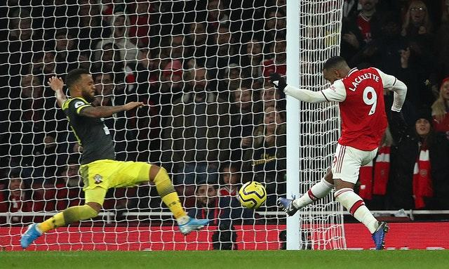 Alexandre Lacazette equalises late on for the Gunners (Yui Mok/PA)