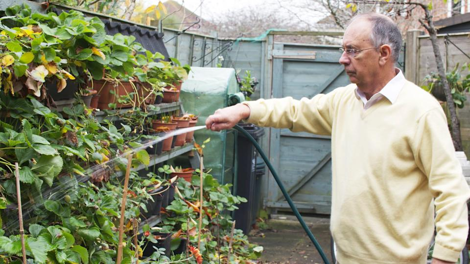 Extreme Supersaver 73-year-old Eric Hawkins takes saving water and money very seriously by taking advantage of a free commodity - rain. He collects every drop he can and has managed to cut his water bills by thousands over the years. (ITV)