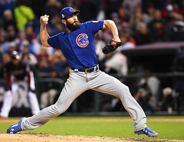 Jake Arrieta started slow but recovered to throw a gem in Game 2 of the World Series. (Getty Images)