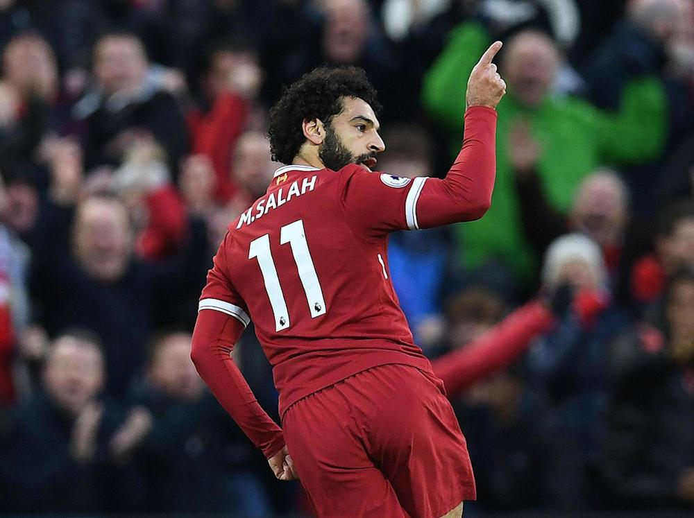The Egyptian has hit the ground running at Anfield (AFP)