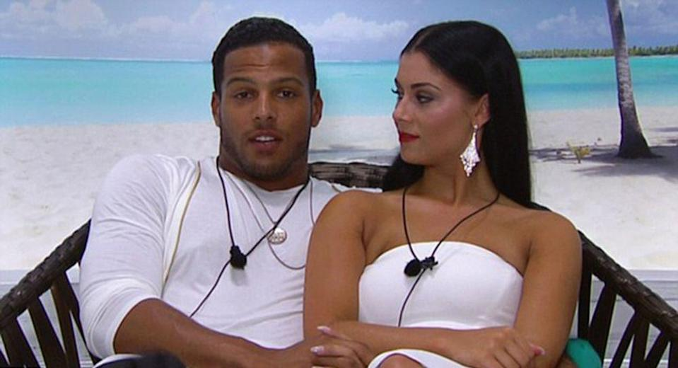 """<p><strong>Relationship status: <strong>Broken up / </strong>Mugged off. But also p</strong><strong>arents to the first ever Love Island baby</strong></p><p>Luis and Cally actually knew each other before they went on Love Island, so when Cally arrived in the villa, Luis couldn't have been happier. And once the show was over, their romance continued to flourish. Then, in May 2017, <a href=""""https://www.cosmopolitan.com/uk/entertainment/a9616272/the-first-love-island-baby-has-been-born/"""" rel=""""nofollow noopener"""" target=""""_blank"""" data-ylk=""""slk:they welcomed the first ever Love Island baby"""" class=""""link rapid-noclick-resp"""">they welcomed the first ever Love Island baby</a> - a little girl called Vienna!</p><p>Sadly, the pair have now called time on their relationship. </p>"""