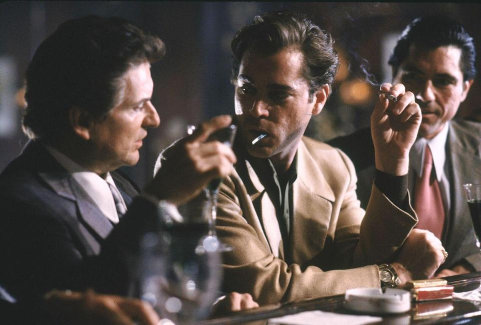 Joe Pesci and Ray Liotta as Henry Hill and Tommy DeVito (Credit: Warner Bros)