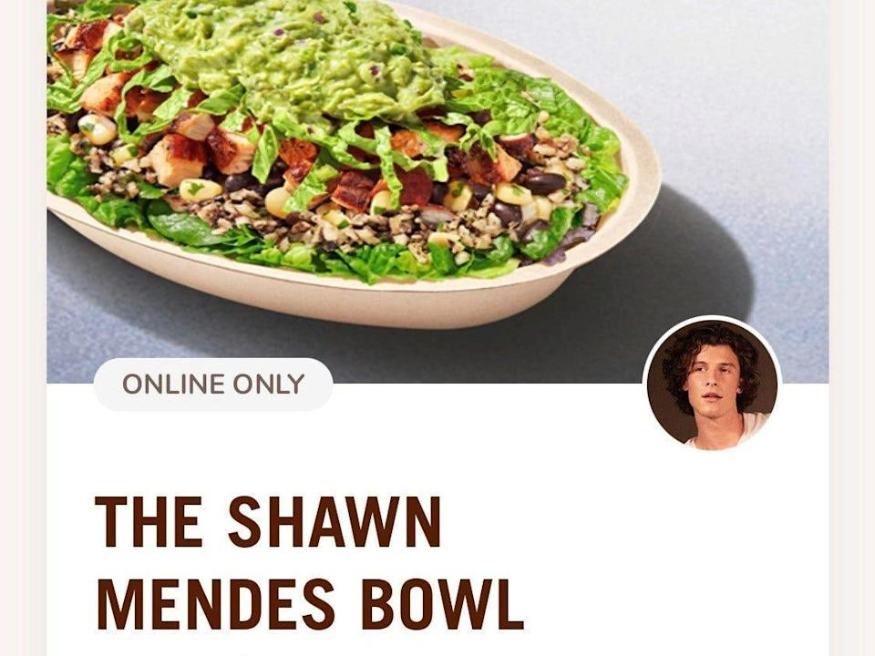 Chipotle Shawn Mendes