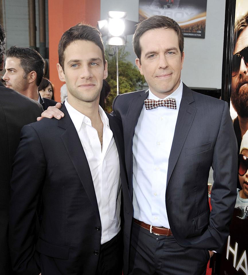 "<a href=""http://movies.yahoo.com/movie/contributor/1808458132"">Justin Bartha</a> and <a href=""http://movies.yahoo.com/movie/contributor/1809704692"">Ed Helms</a> at the Los Angeles premiere of <a href=""http://movies.yahoo.com/movie/1810044687/info"">The Hangover</a> - 06/02/2009"