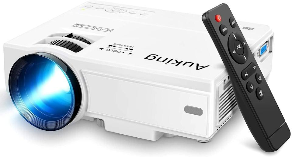 <p>You can use this <span>AuKing Portable Mini Projector</span> ($67, originally $120) for almost 15 years! It easily connects your gaming consoles, HDMI streaming sticks, laptops, smartphones, and external audio. The projector has a 32-170-inch display. </p>